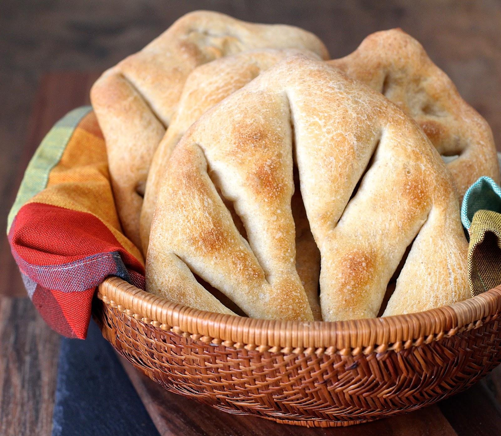 Mini Fougasse with Sourdough Starter   Karen\'s Kitchen Stories