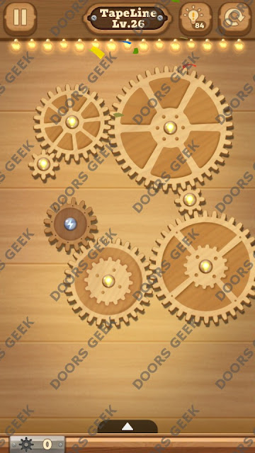 Fix it: Gear Puzzle [TapeLine] Level 26 Solution, Cheats, Walkthrough for Android, iPhone, iPad and iPod