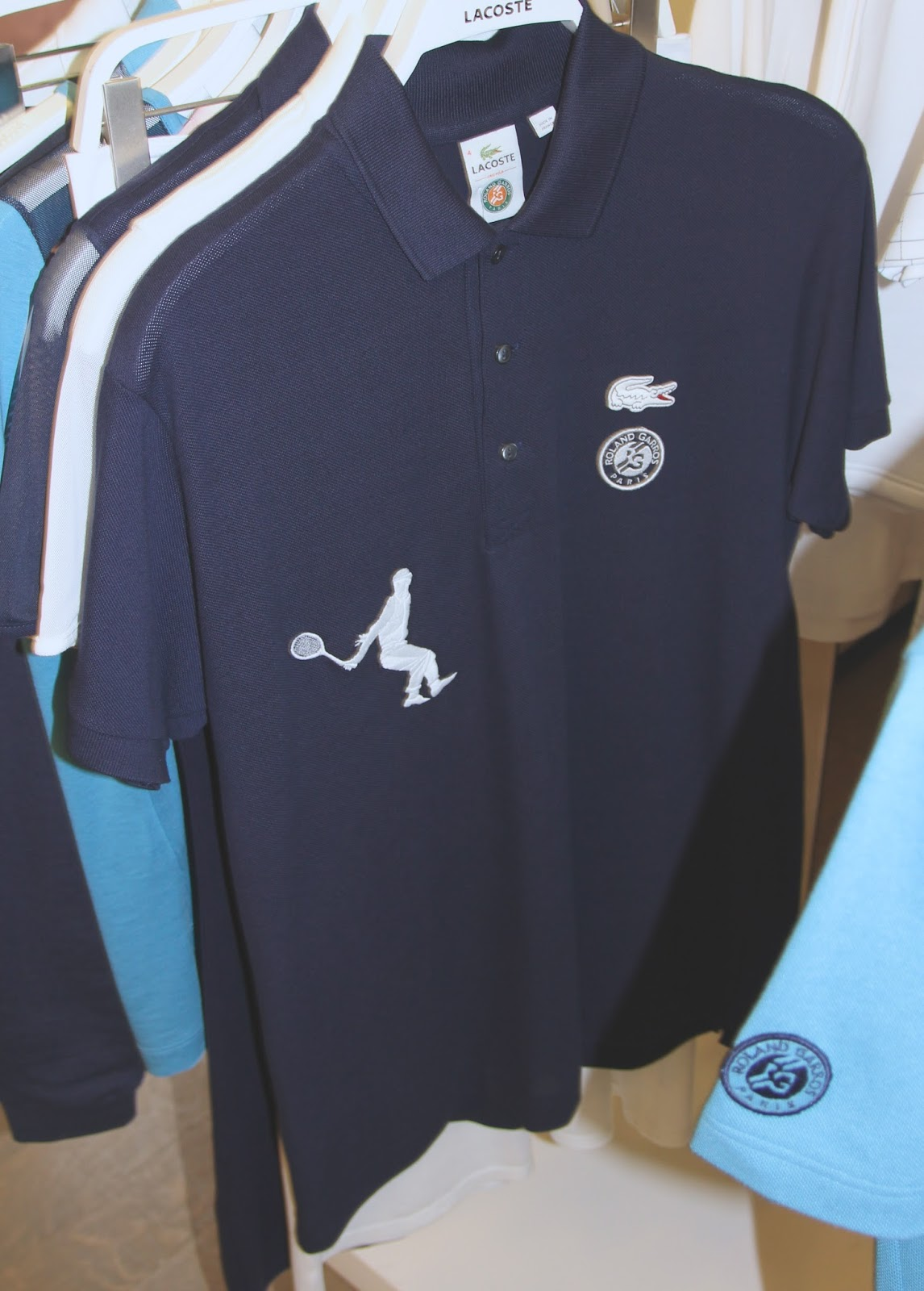 fbcbe26c love the sporty mesh sleeve fabric-t with feminine cut polo dress