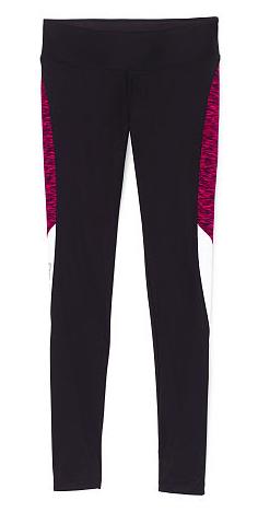 8376e681b24d64 Victoria's Secret Pink Ultimate Yoga Leggings in Black and Magenta Color  Block