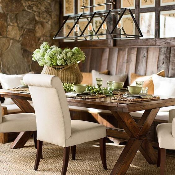Pottery Barn Farmhouse Furniture: Hydrangea Hill Cottage: Loving These Farmhouse Tables