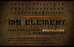 font black metal warrior