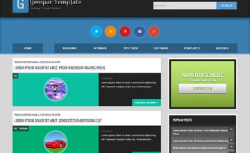 Download Gempar Template Valid HTML5 dan CSS3