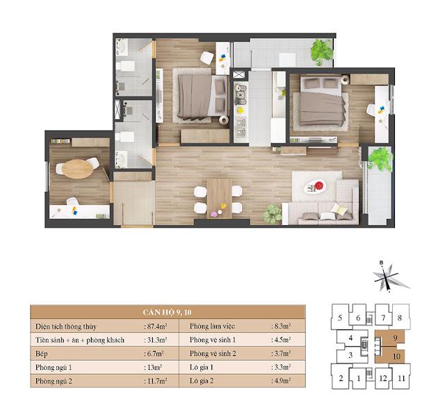 Thiết kế căn hộ 09 10