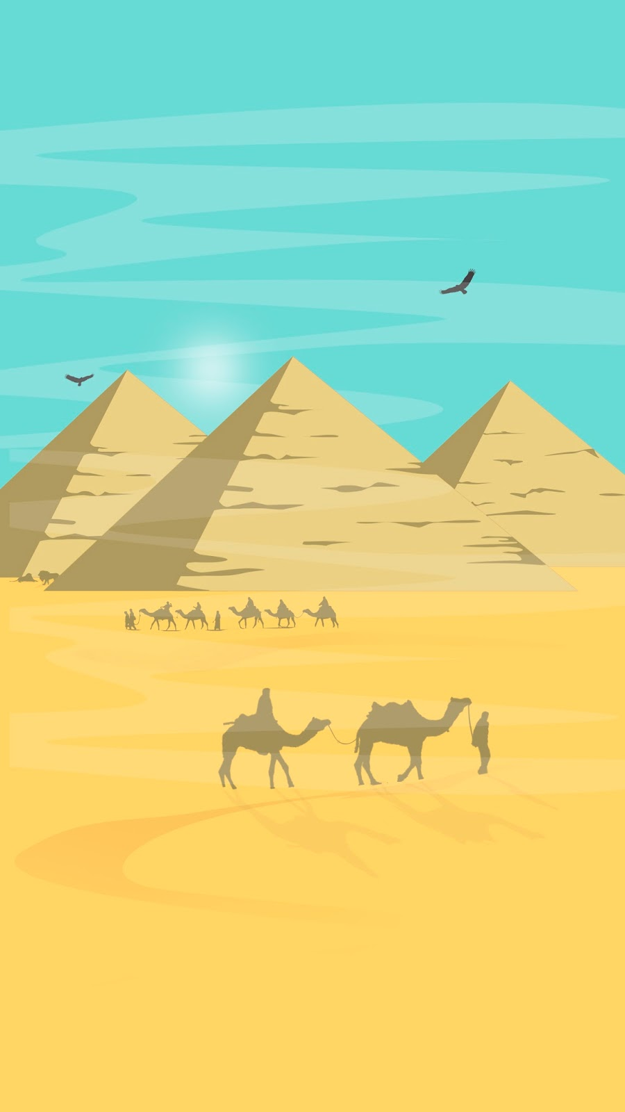 Download Free Mobile Wallpaper Egyptian Pyramids With Desert View
