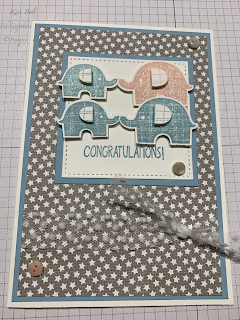 Little Elephant card. New Baby Card
