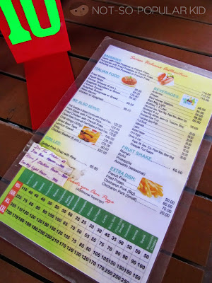 Greenoz Pizzaria Menu