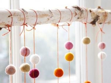 la fabrique d co diy des pompons dans la d co. Black Bedroom Furniture Sets. Home Design Ideas