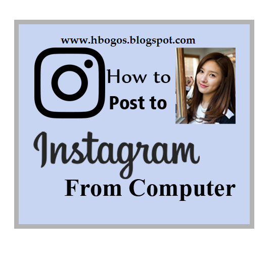 how to add photo in instagram from pc