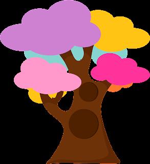 dibujos de arboles coloreados para imprimir