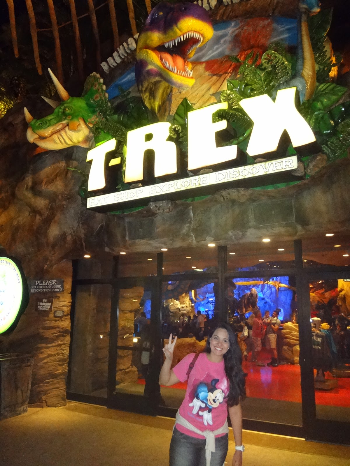 disney downtown - t-rex - orlando