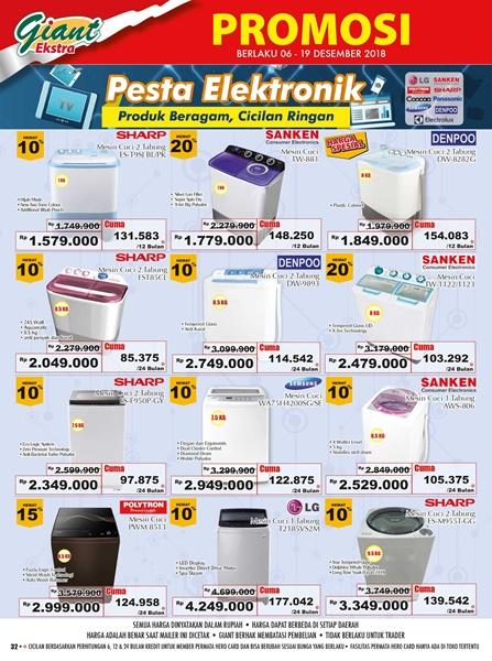 promo giant elektronik mesin cuci