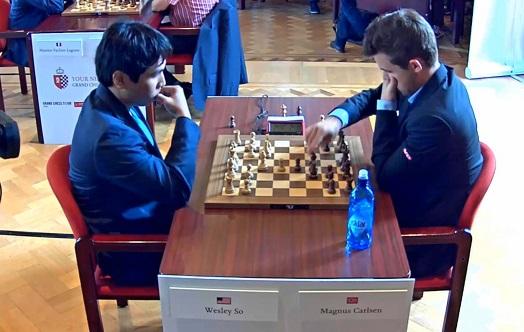 Le champion du monde d'échecs Magnus Carlsen annule ronde 1 face à Wesley So - Photo © Chess & Strategy