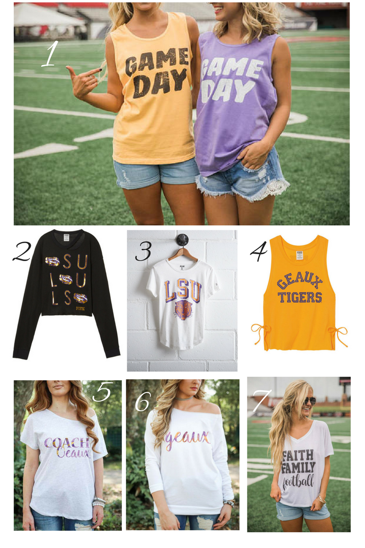 football tail gating fashion lsu tigers
