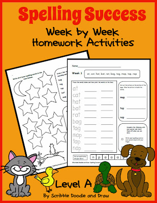 An entire year of spelling worksheets and activities