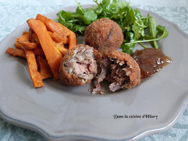 Boulettes de confit de canard au foie gras