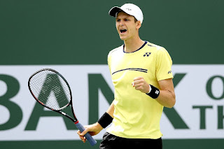 Hurkacz upsets Nishikori at Indian Wells