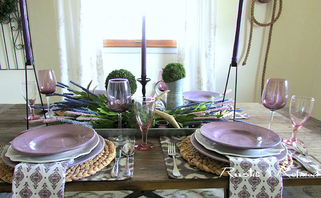 Spring Lavender Bouquet Tablescape