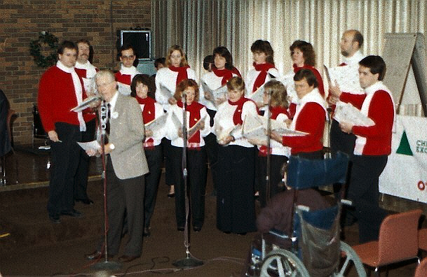 Gord Atkinson and the Stairwell Carollers - CFRA CFMO Christmas Exchange broadcast