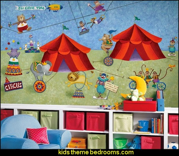Big Top Circus Prepasted Chair Rail Wall Mural