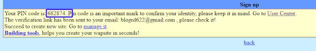 wapka.com email verification