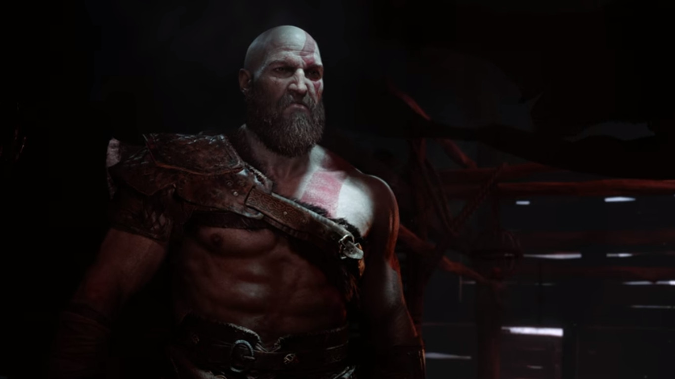God of War E3 2016 gameplay trailer reveal bearded Kratos in Valhalla