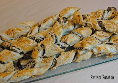 recette de feuilletés tapenade et noix, apéritif festif, apéritif fait maison, feuilletés apéritif