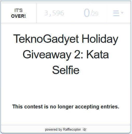 Kata Selfie Giveaway
