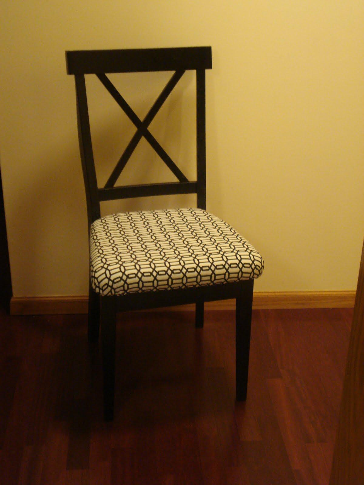 DandB Upholstering a Wooden Chair