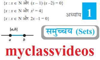 My Class Pdf: Class 11 Maths Chapter 1 Sets in Hindi Medium