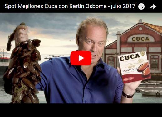La propaganda de mejillones de Bertin Osborne prohibida en Venezuela