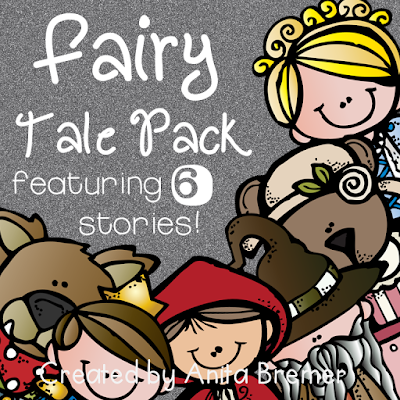 A complete Fairy Tales unit featuring activities for 6 student favorites including Cinderella, Goldilocks and the Three Bears, The Three Pigs, Jack and the Beanstalk, The Frog Prince, and Little Red Riding Hood