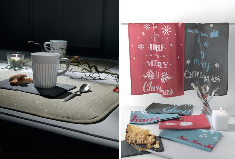 tessile tavola collezione Natale di Vallesusa