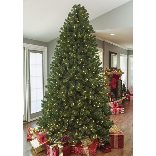 9ft clear led montana pine artificial christmas tree