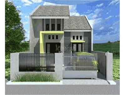 rumah minimalis tampak depan samping belakang