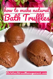 How to make natural bath truffles