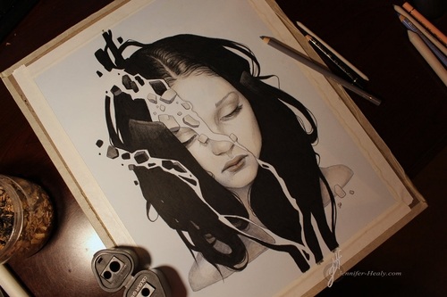 12-Depression-Jennifer-Healy-Traditional-Art-Color-Pencil-Drawings-www-designstack-co