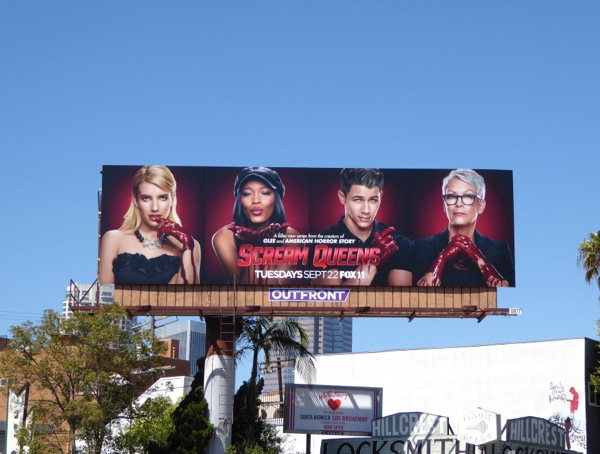 Scream Queens series premiere billboard