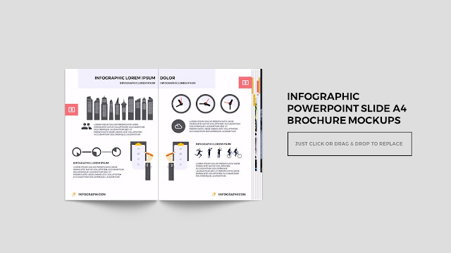 Infographic Multi Page Brochure Powerpoint Mockup Slide1