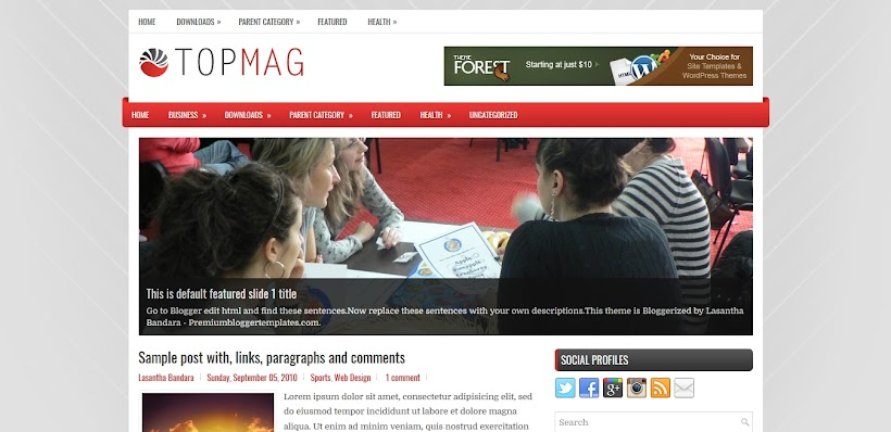TopMag Free Blogger Template