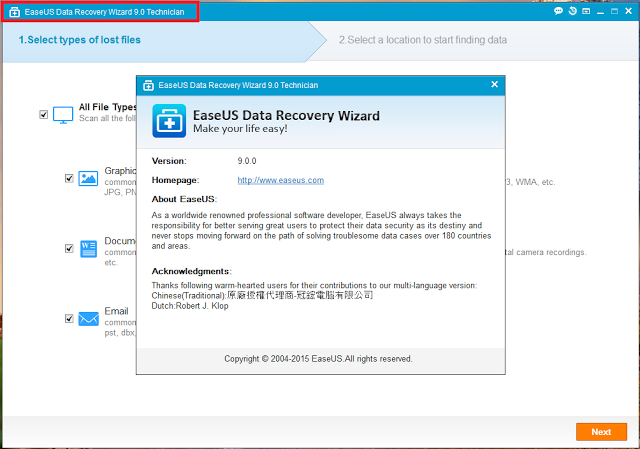 easeus data recovery license code list 2018
