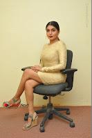 Actress Pooja Roshan Stills in Golden Short Dress at Box Movie Audio Launch  0032.JPG