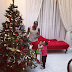 Peter Okoye and kids show off their Christmas tree..