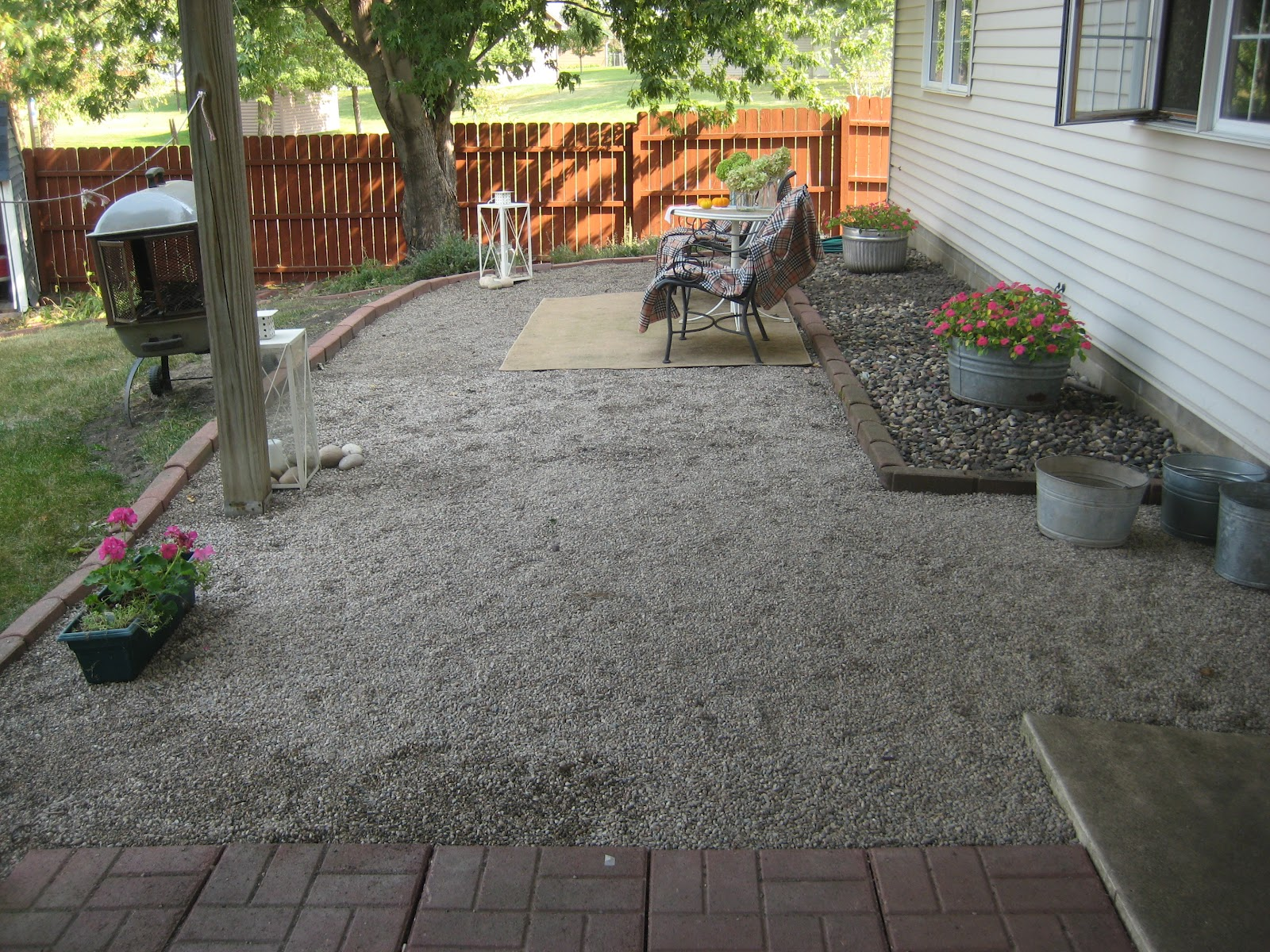 Happy At Home: A New Gravel Patio on Rock Patio Designs  id=86979