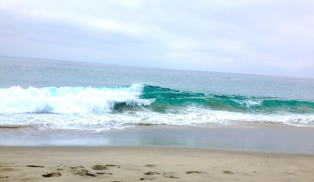 Surf ocean waves California
