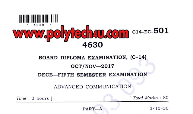 DIPLOMA ADVANCED COMMUNICATION C-14 501 DECE 2017