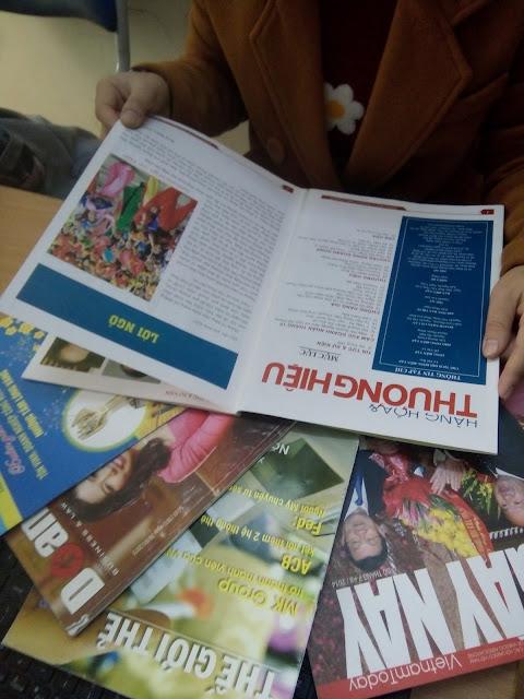 Sản phẩm thiết kế báo, tạp chí của công ty