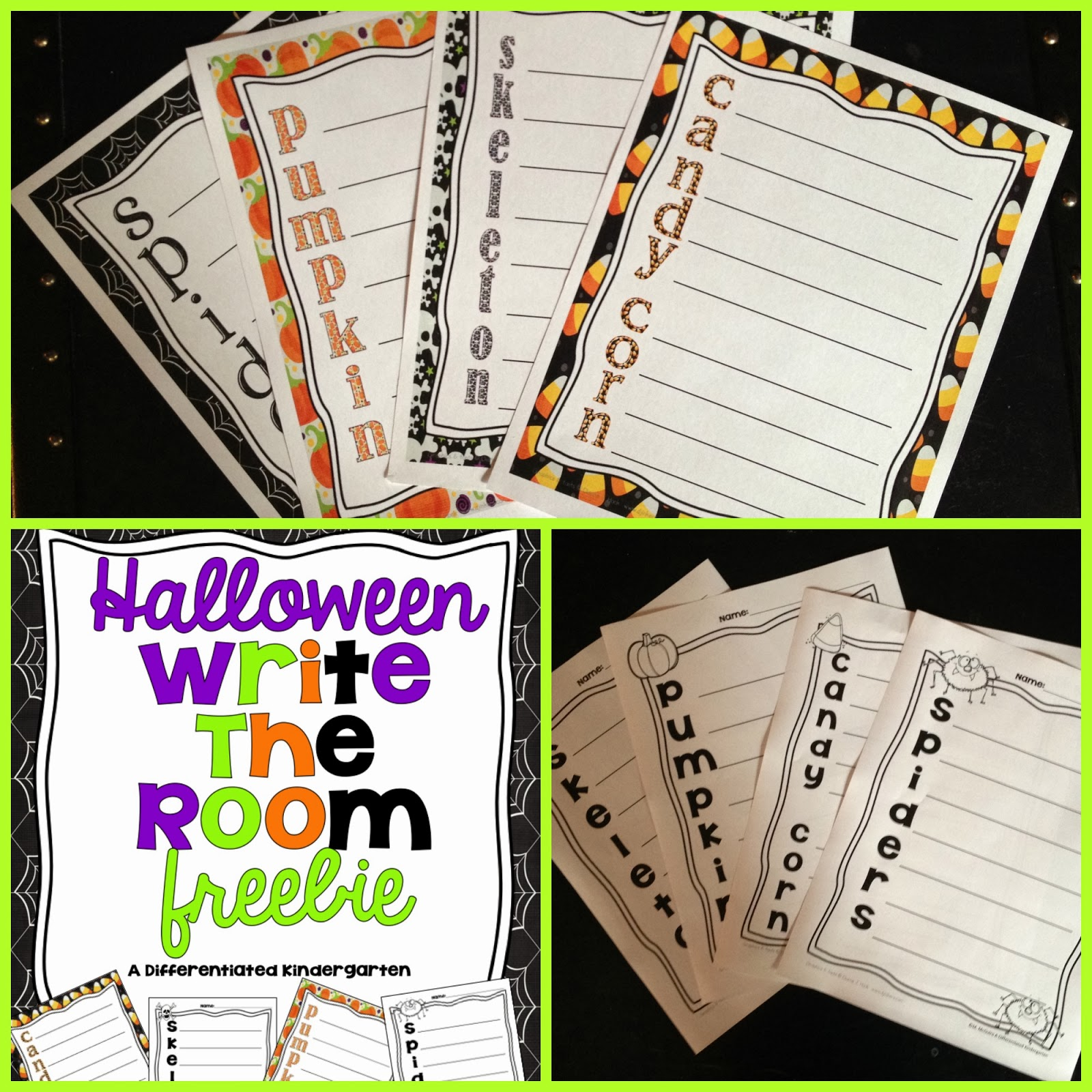 a last minute halloween freebie to get them moving differentiated kindergarten. Black Bedroom Furniture Sets. Home Design Ideas
