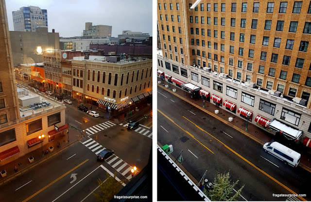 A vista do apartamento do hotel Holiday Inn Memphis Downtown