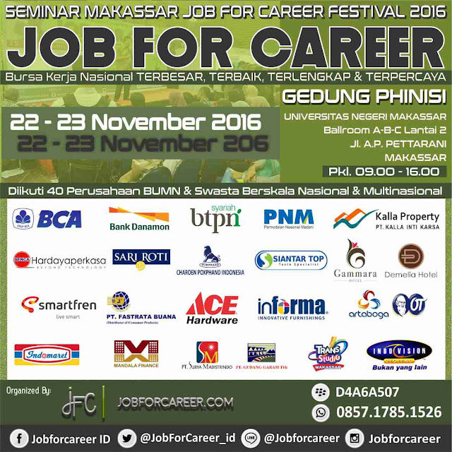 Job fair Makassar National Job For Career Festival